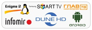 Онлайн ТВ на любыx устройстваx - Dune HD, Android, Smart TV, Enigma 2, Глав ТВ, Mag 250, Aura HD, Infomir, Windows, Mac OS, iPhone, Online.